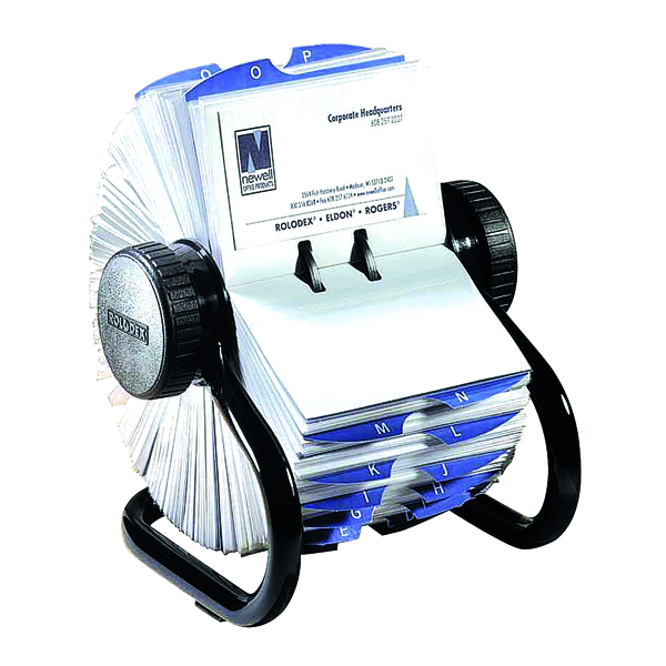 Card Index Storage Rolodex Classic 200 Rotary Card File Black 67236