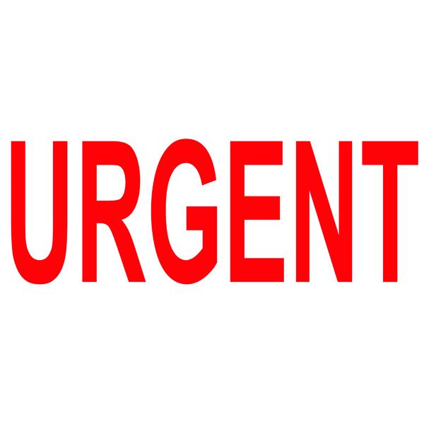 Word COLOP Green Line Word Stamp URGENT Red C144837URG