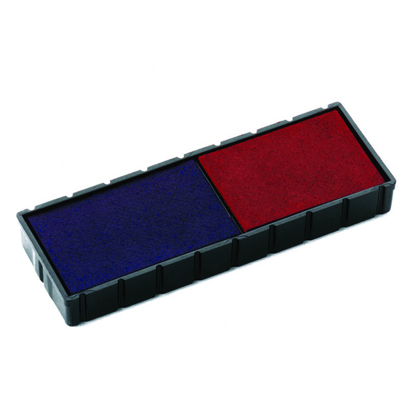 MultiColour COLOP E/12/2 Replacement Ink Pad Blue/Red (2 Pack) E/12/2