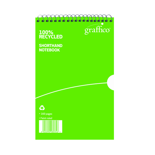 Other Graffico Recycled Shorthand Notebook 160 Pages 203x127mm 9100037