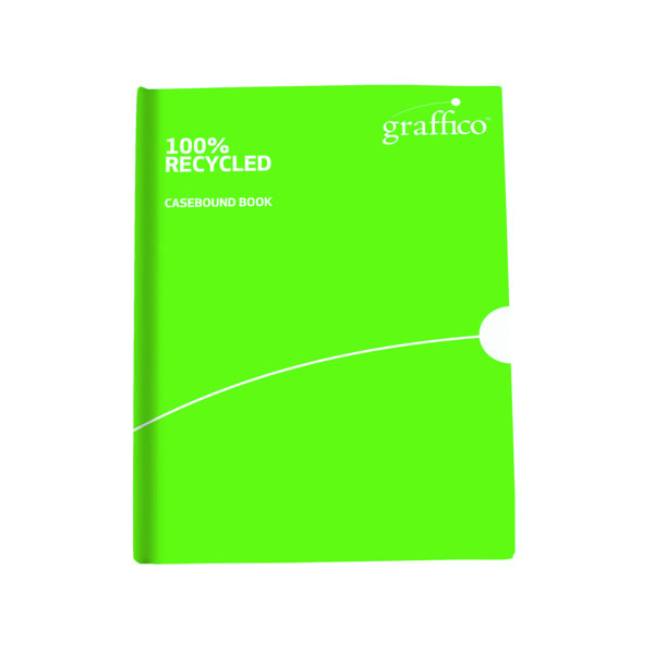 Unspecified Graffico Recycled Casebound Notebook 160 Pages A4 9100032