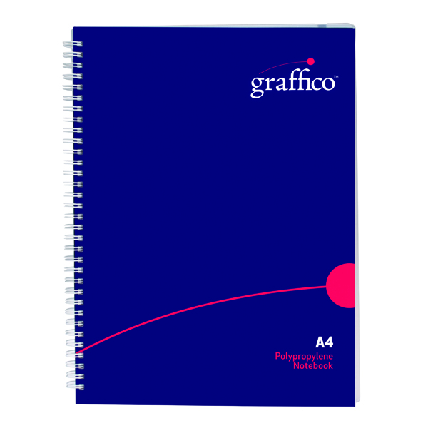 A4 Graffico Hard Cover Wirebound Notebook 160 Pages A4 500-0510