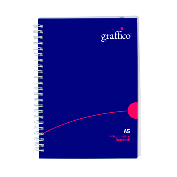 A5 Graffico Hard Cover Wirebound Notebook 160 Pages A5 500-0511