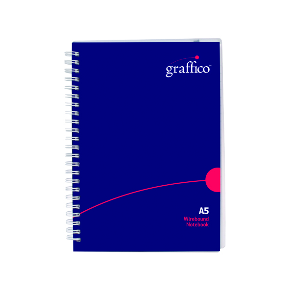 A5 Graffico Polypropylene Wirebound Notebook 140 Pages A5 500-0505