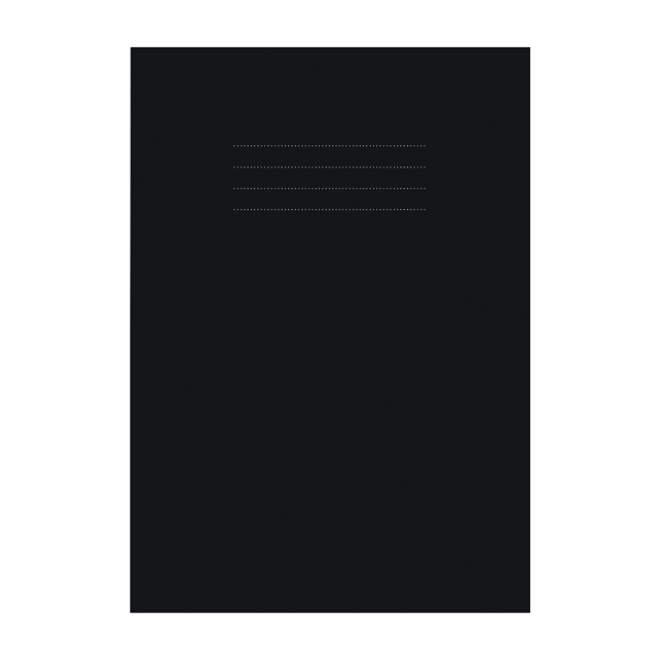 A4 Nu Education Sketchbook A4 Black (50 Pack) NU602007