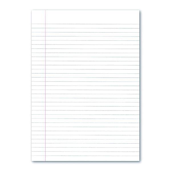 Ruled Loose Leaf Paper A4 Ruled with Margin (2500 Pack) EN09808