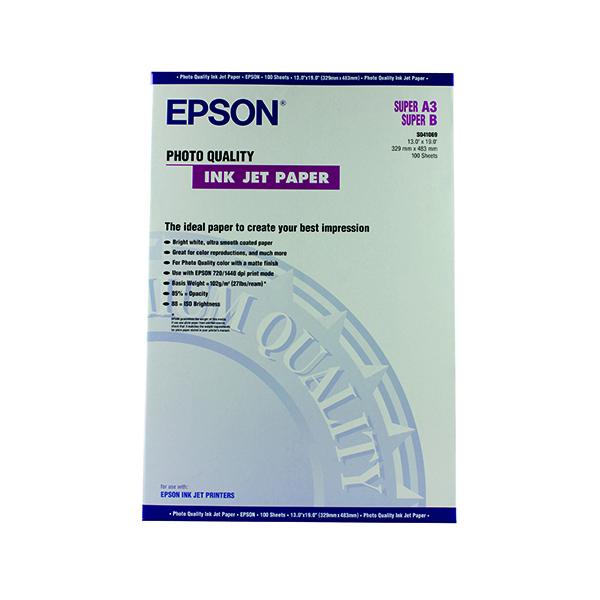 Epson White A3+ Photo Inkjet Paper (100 Pack) C13S041069