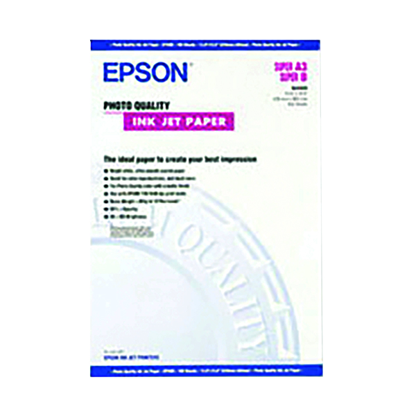 Epson White A2 Photo Quality Paper (30 Pack) C13S041079