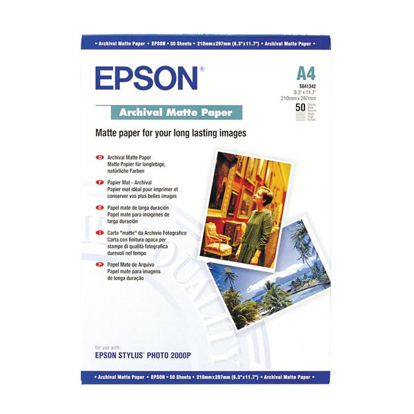 Epson A4 Archival Matte Paper (50 Pack) C13S041342