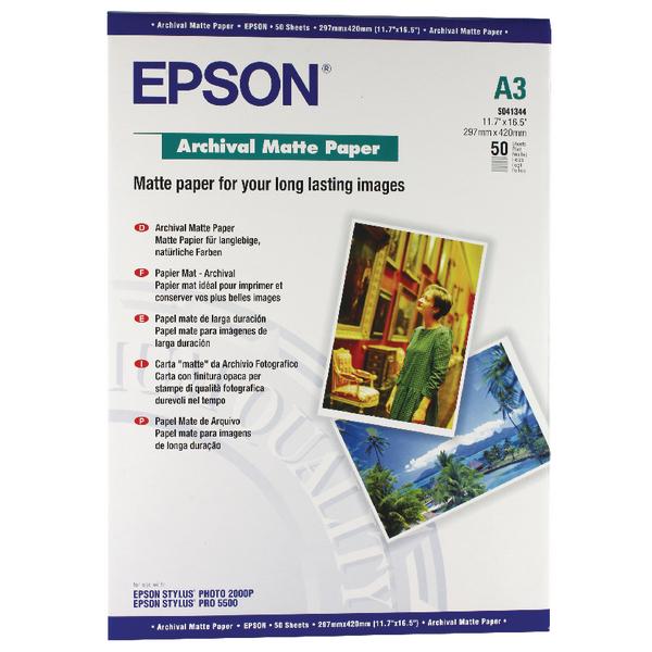 Specialist Epson Matte A3 Archival Paper 192gsm (50 Pack) C13S041344