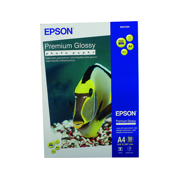 Epson Premium Glossy A4 Photo Paper (50 Pack) C13S041624