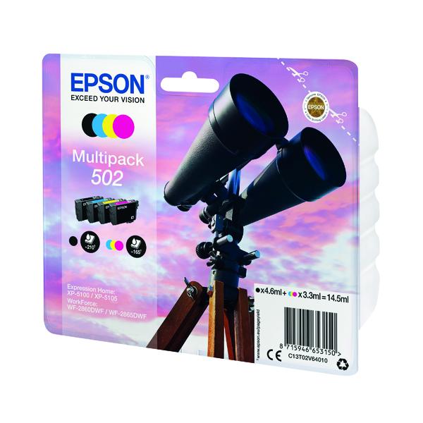 Inkjet Cartridges Epson Multipack 502 Ink 4-colours C13T02V64010