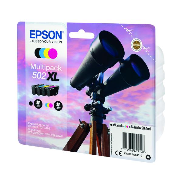 Inkjet Cartridges Epson Multipack 502XL Ink 4-colours C13T02W64010