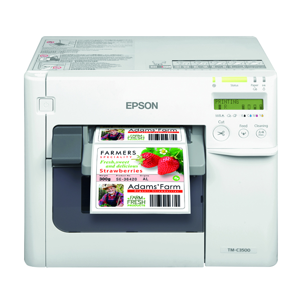 Labelling Machines Epson TM-C3500 Inkjet Label Printer Colour 720X360 DPI C31CD54012CD