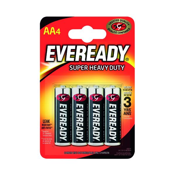 AA Eveready Super Heavy Duty AA Batteries (4 Pack) R6B4UP