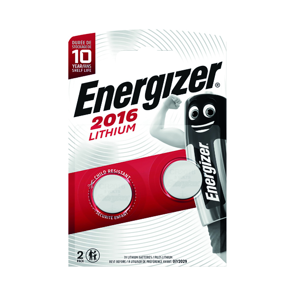 Button Cell Energizer 2016/CR2016 Lithium Speciality Batteries (2 Pack) 626986