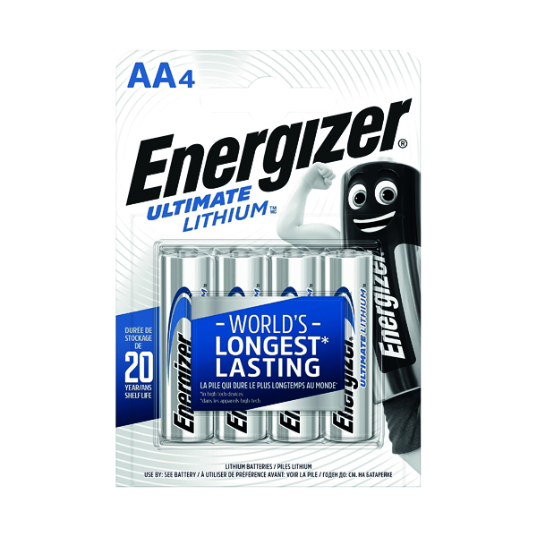 AA Energizer Ultimate AA Lithium Battery (4 Pack) 632964