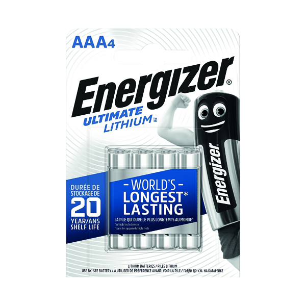 AAA Energizer AAA Ultimate Lithium Batteries (4 Pack) 632965