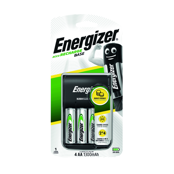 AA Energizer Base Battery Charger With 4 x AA Batteries 632229