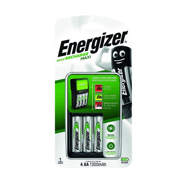 AA Energizer Maxi Battery Charger 4x AA Batteries 1300 mAh UK 633151
