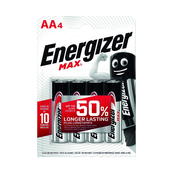 Energizer MAX E91 AA Batteries (4 Pack) E300112500