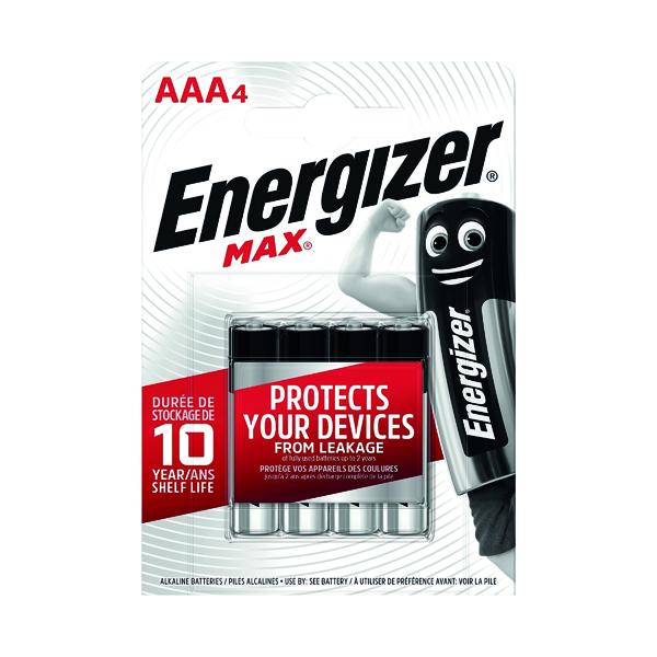 AAA Energizer MAX E92 AAA Batteries (4 Pack) E300124200