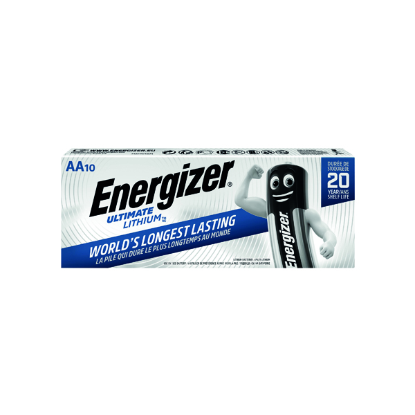 AA Energizer Ultimate Lithium AA Batteries (10 Pack) 634352
