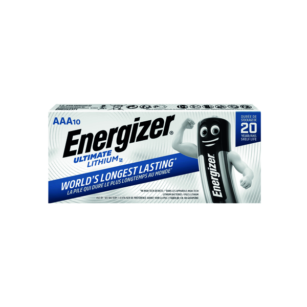 AAA Energizer AAA Ultimate Lithium Batteries (10 Pack) 634353
