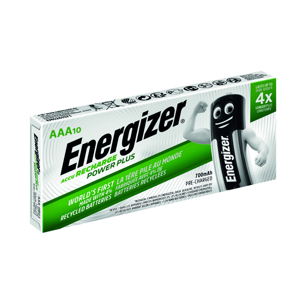 AAA Energizer AAA Rechargeable Batteries 700mAh (10 Pack) 634355
