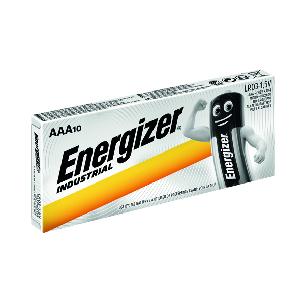 AAA Energizer Industrial AAA Batteries (10 Pack) 636106