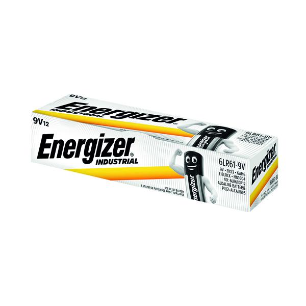9V Energizer 9V Industrial Batteries (12 Pack) 636109