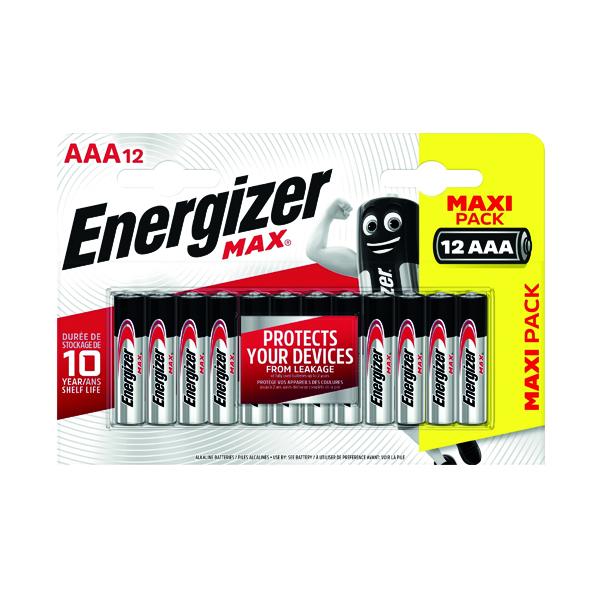 AAA Energizer MAX E92 AAA Batteries (12 Pack) E300103700