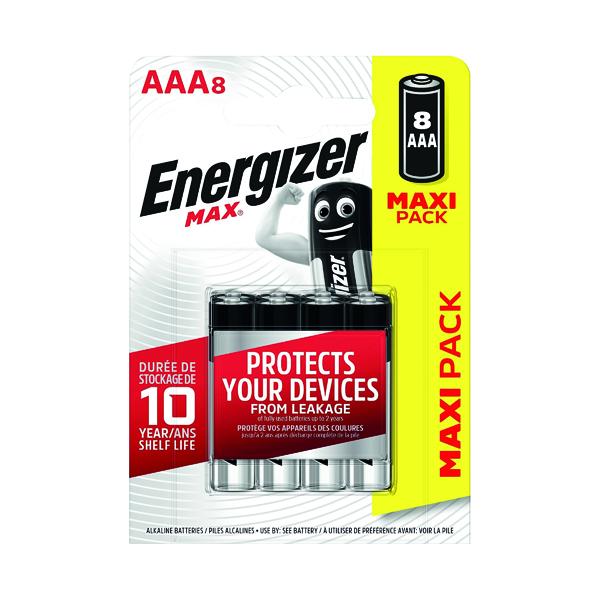 AAA Energizer MAX E92 AAA Batteries (8 Pack) E300112100
