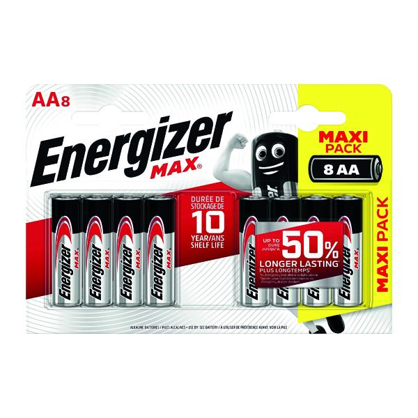 AAA Energizer MAX E91 AA Batteries (8 Pack) E300112400