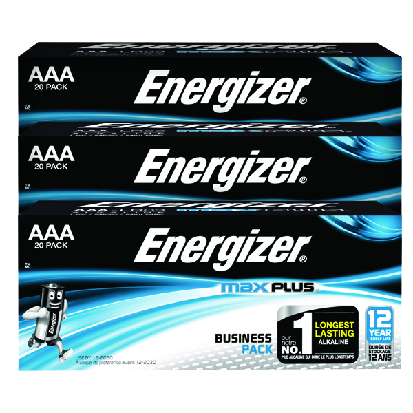 Energizer Max Plus AAA Batteries (20 Pack) 3 for 2