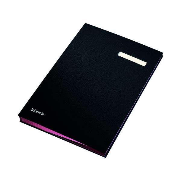Unspecified Esselte Signature Book 20 Part Black 621061