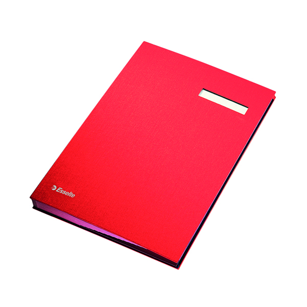 Unspecified Esselte Signature Book 20 Part Red 621062