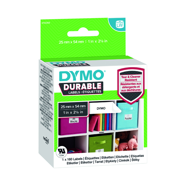 Dymo Durable Labels 25 x 54mm Roll 1976411