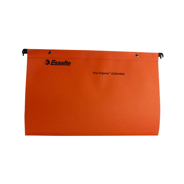 Esselte Orgarex Suspension File V Base Foolscap Orange (50 Pack) 10402