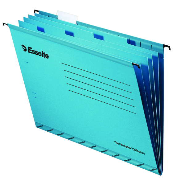 Lateral File Esselte Classic Blue Foolscap Suspension File Divider (10 Pack) 93135