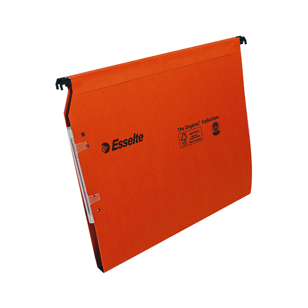 Lateral File Esselte Orgarex 15mm Lateral File A4 Orange (25 Pack) 21628