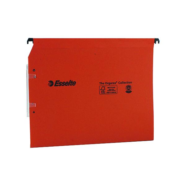 Esselte Orgarex 30mm Lateral File A4 Orange (25 Pack) 21629