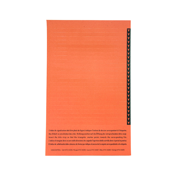 Inserts Esselte Orgarex Lateral Insert White With Orange Tip (250 Pack) 326900