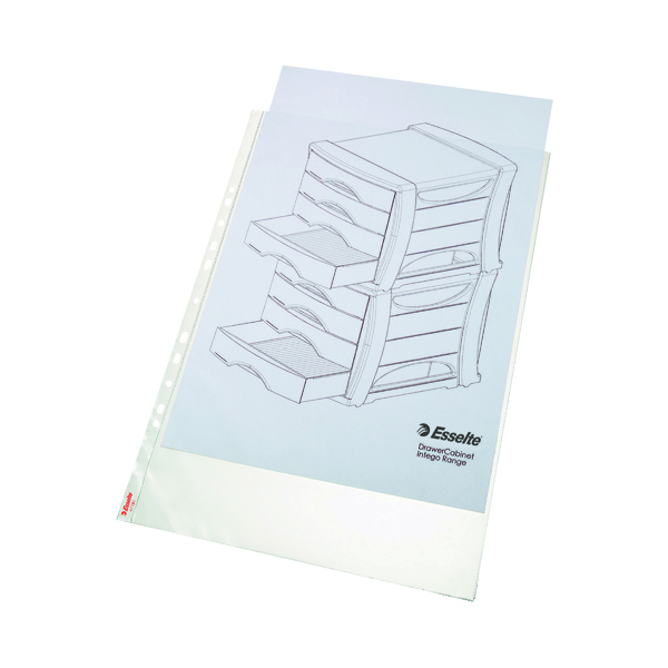 A3 Esselte Pocket Portrait Top Opening Embossed A3 Clear (10 Pack) 47181