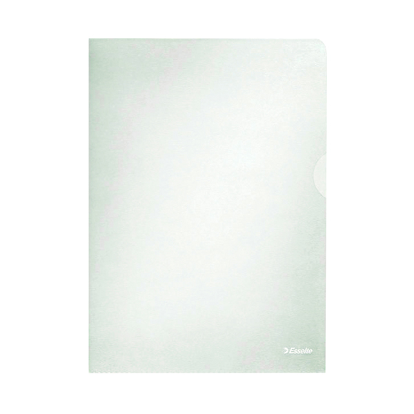A4 Esselte Clear Embossed Folders (100 Pack) 54832