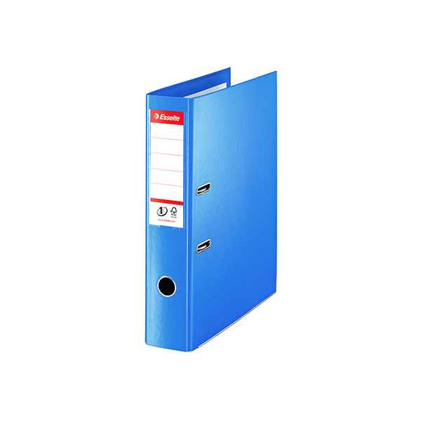 Foolscap (Legal) Size Esselte 75mm Lever Arch File Polypropylene Foolscap  Blue (10 Pack) 48085