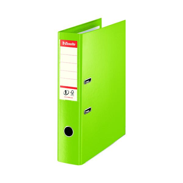 Foolscap (Legal) Size Esselte Leverarch Foolscap 75mm Polypropylene Green (10 Pack) 48086