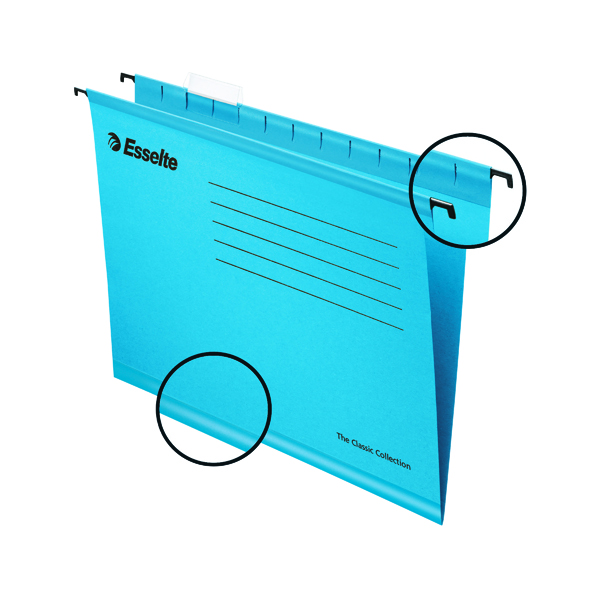 Esselte Classic A4 Blue Suspension File (25 Pack) 90311