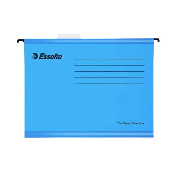 Esselte Classic Foolscap Blue Suspension File (25 Pack) 90334