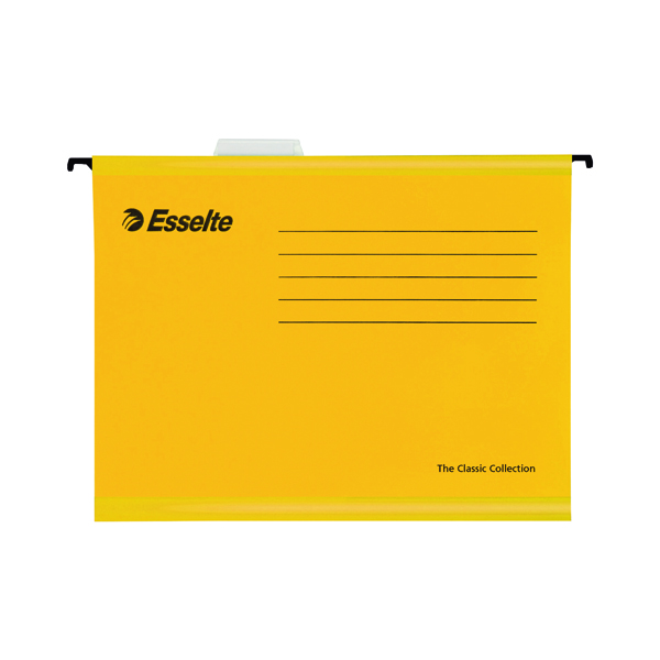 Esselte Classic Foolscap Yellow Suspension File (25 Pack) 90335